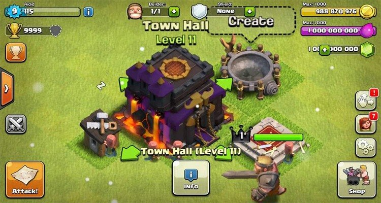 Clash of Clans Mod Apk Unlimited Resources Dec-2016