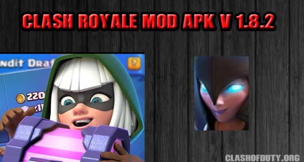Clash Royale Mod Apk V 1.8.2 - New Leagues, New Cards, New Arena [UL Gems]