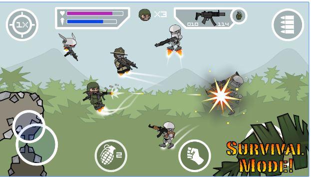 Download Doodle Army 2 Mini Militia v 3.0.136 Mod Apk (Health UL) (2)