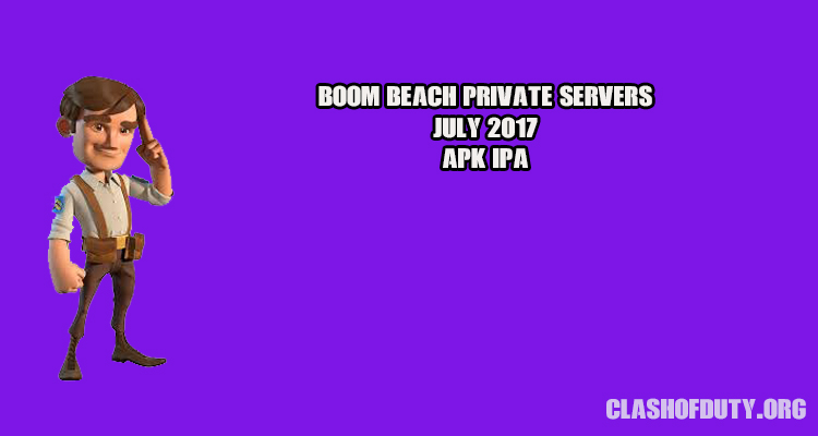 Download Boom Beach Private Servers July 2017 (Android & iOS)
