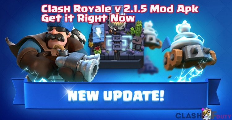 Download Clash Royale v 2.1.5 Mod Apk/Ipa Right Now