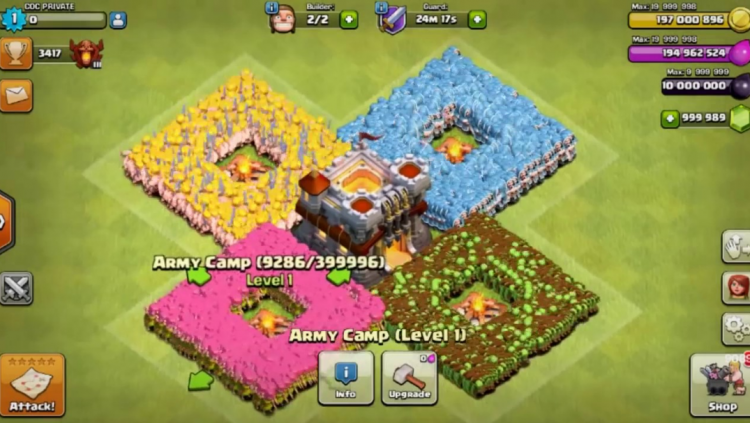 clash of clans mod apk 10.134.6 unlimited everything 2018