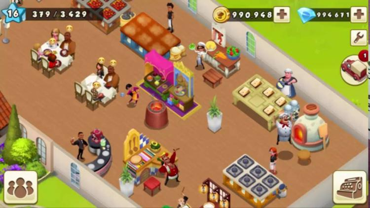 Download World Chef Mod Apk v 1.35.0 [Unlimited Storage/ Gems]
