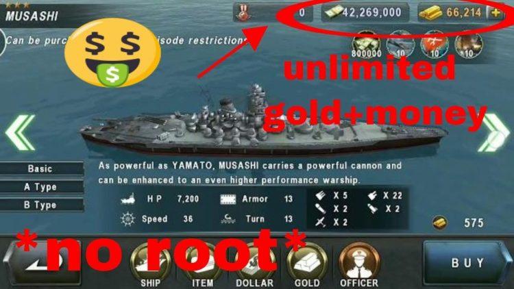 Download Warship Battle Mod Apk v 2.5.8 [Unlimited Gold]