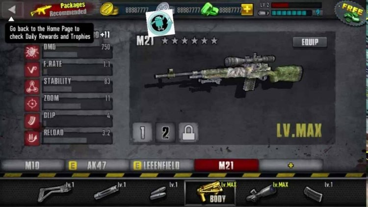Download Zombie Frontier 3 Mod Apk v 2.10 [Unlimited Gold / Coins]