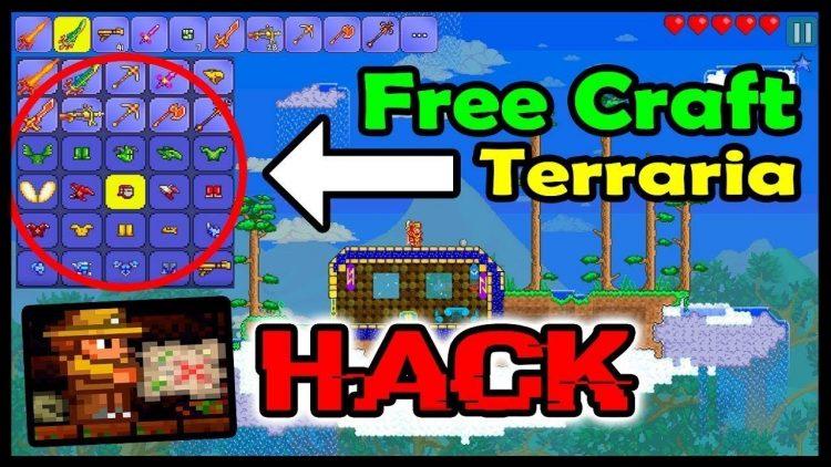 Download Terraria Mod Apk v 1.3 [Free Crafting / Invincible]