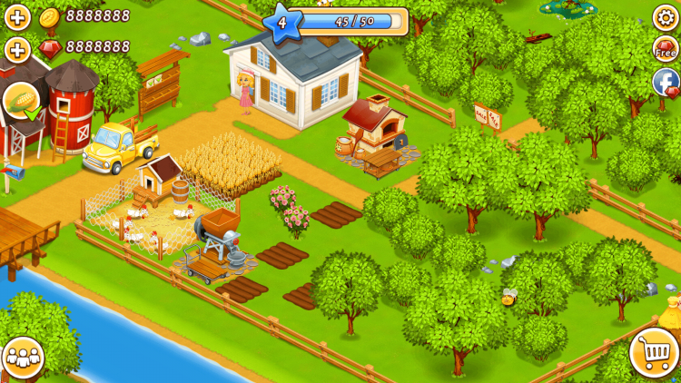 Get Farm Town Mod Apk v 2.33 [Unlimited Diamonds / Gold]